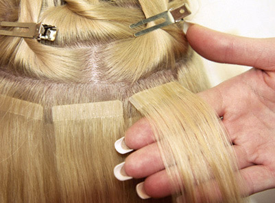 Ленточное наращивание волос киеве