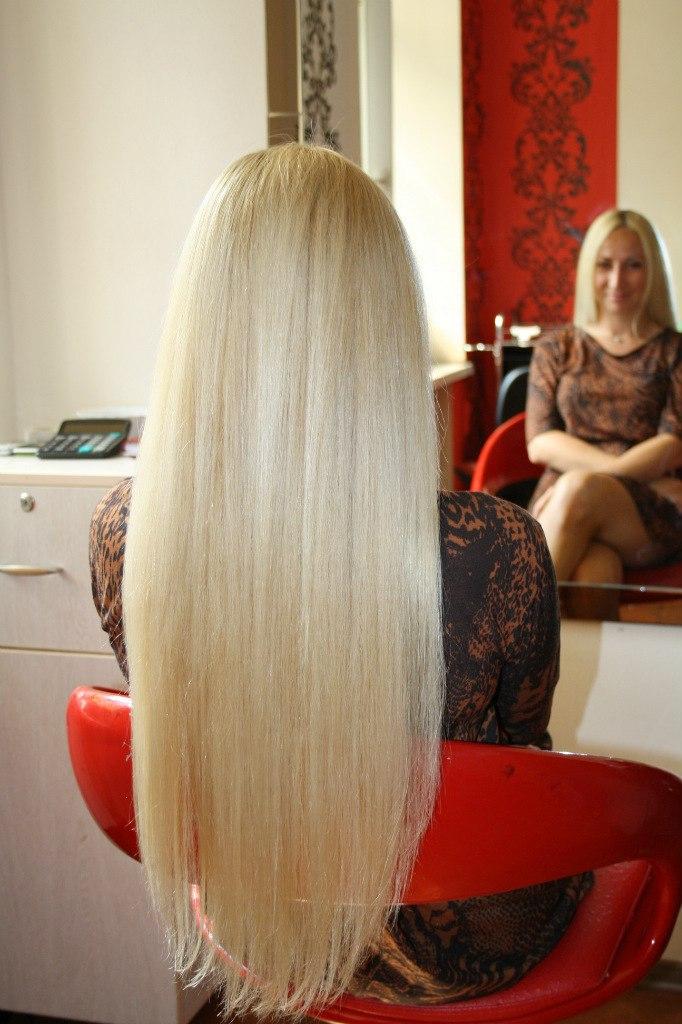 Натуральные волосы длинные волосы